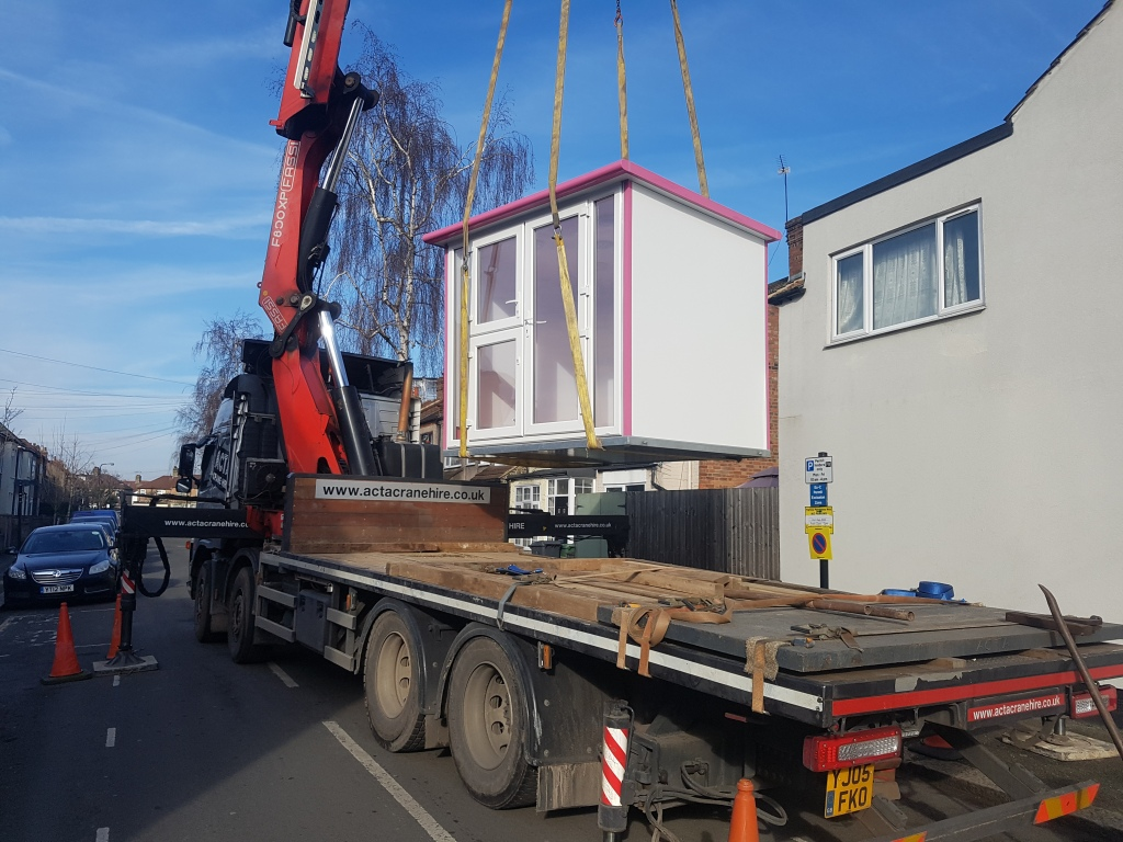 Clipsters dog grooming room being delivered in Walthamstow image 1 of 3